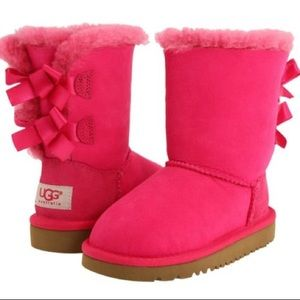 UGG Australia Kids Bailey Bow Boot Cerise Pink